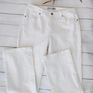 Chico's Platinum White Quartz Mid-rise Jean